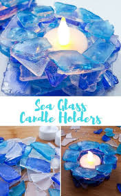 Home Interiors Candles Baked Apple Pie Super Easy Diy Tea Light Candle Holders Made With Sea Glass
