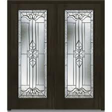 1 panel double door dark brown wood front doors exterior