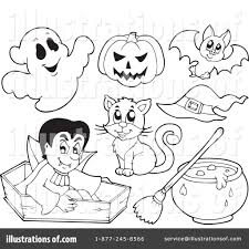halloween clipart free black and white halloween clipart 1079357 illustration by visekart