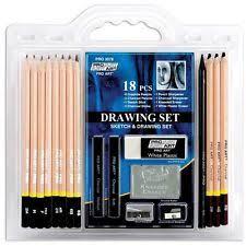 pro art 18 piece sketch draw pencil set 785934099763 ebay