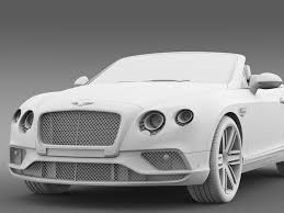 2017 white bentley convertible bentley continental gt v8 convertible 2017 3d model max obj 3ds