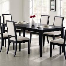 White Leather Dining Room Chair by Modern Black Dining Table Dining Room Awesome Dining Room Table