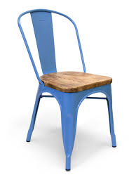 Blue Bistro Chairs Metal Bistro Wood Seat Chair Blue Cottage Home