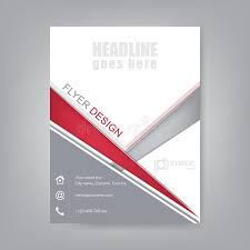 flyer design brochure template or corporate banner stock vector