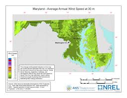 Maryland vegetaion images Windexchange maryland 30 meter residential scale wind resource map jpg