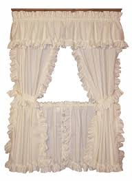 Ruffled Kitchen Curtains Cape Cod Framed Ruffled Curtains W Ties