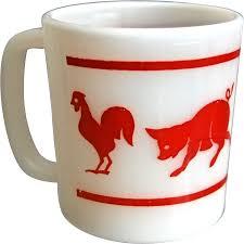 hazel atlas u201ckiddie ware u201d animal mug from thedevilduckcollection