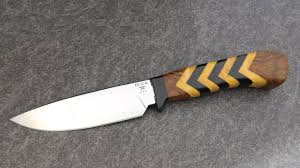 buck custom yellow jacket fixed blade edgeworks knife and supply co