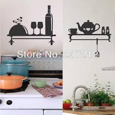 kitchen wall decal decorative vinyl shelf indoor lettering teapot