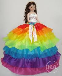 quinceanera dolls heidicollection viviana 26 quinceanera doll in flowing