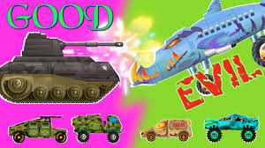 evil air craft against good tank good vs evil scary videos for