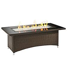 Patio Table With Firepit by Amazon Com Outdoor Great Room Montego Crystal Fire Pit Coffee