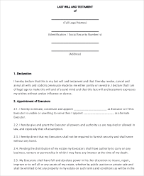 last will and testament form last will and testament template 04
