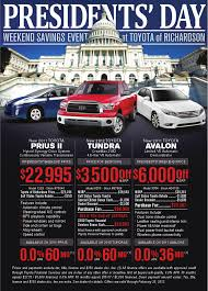 toyota specials presidents day weekend savings new toyota specials toyota of