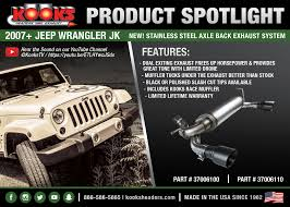 jeep stock exhaust make some noise with the new kooks jeep wrangler jk exhaust