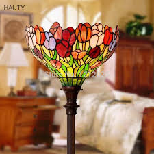 stained glass torchiere l shades gorgeous tiffany style tulip torchiere floor ls for living room