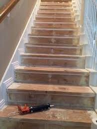 cheater trick for getting rid of carpet stairs stair redo