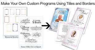 Custom Funeral Programs Funeral Program Borders Frames And Microsoft Autoshapes