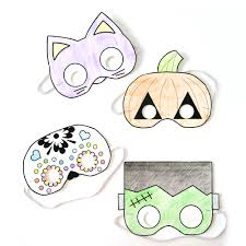 halloween masks colour free printable coloring pages