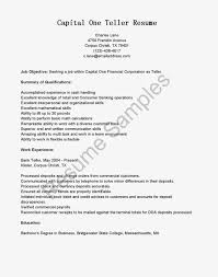 Best Resume Format For Banking Sector by Head Teller Cover Letter