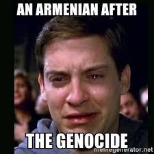 Armenian Memes - an armenian after the genocide crying peter parker meme generator