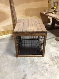 dog kennel side table dog cage with a table built over it farmhouse pinterest dog