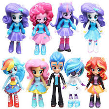 9pcs pony equestria girls figures 12cm monster