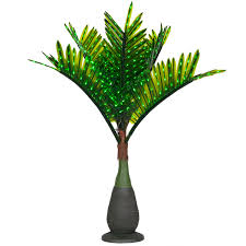 bottle commercial led lighted palm tree with green canopy yard envy