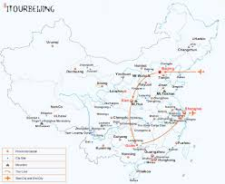Guilin China Map by 10 Day China Impression Tours