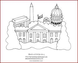 white house coloring