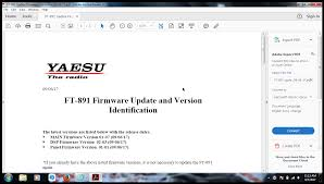 Adobe Ft by Yaesu Ft 891 New Firmware Update V1 07 Qrz Forums