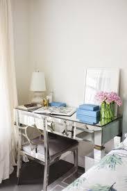 bedroom nightstand modern art filled bedroom with mirrored desk