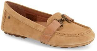 ugg womens driving shoes lyst ugg aven suede driving moccasins in brown