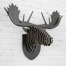 Christmas Reindeer Decorations Canada by Aliexpress Com Buy Wall Deer Moose Elk Head Nordic European