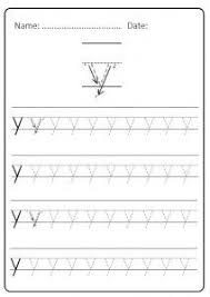 free printable lowercase letter y practice for kindergarten