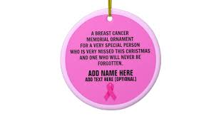 breast cancer poem memorial ceramic ornament zazzle