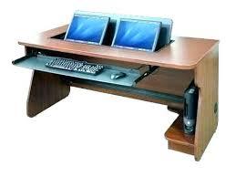 Dual Monitor Computer Desks Computer Desk For Monitors Getanyjob Co