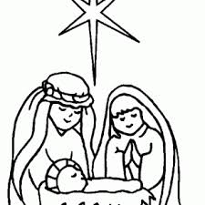 coloring pictures baby jesus manger