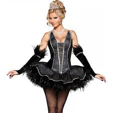 seductive black swan ballerina costume