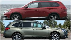 outback subaru 2016 2016 mitsubishi outlander vs subaru outback youtube intended for