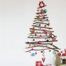 wall christmas tree top 40 christmas decoration made with twigs and branches christmas