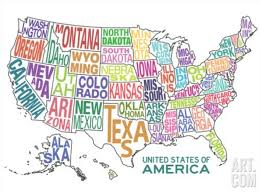 United States Map Poster by Maps U2013 Bookmaking With Kids