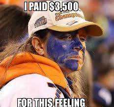 Broncos Funny Memes - emotionally shattered broncos fan reacts to the big game she flew