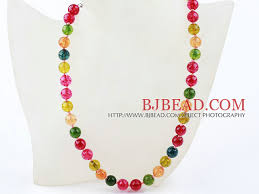 color bead necklace images Classic design 10mm round candy multi color crystal beaded jpg
