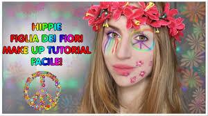 foto hippie figli dei fiori trucco carnevale semplice hippie figlia dei fiori
