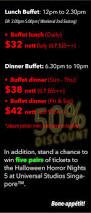 halloween horror nights ticket buy holiday inn halloween buffet 50 off a devil u0027s feast at
