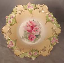 rs prussia bowl roses rs prussia porcelain berry fruit bowl set floral mold rs prussia