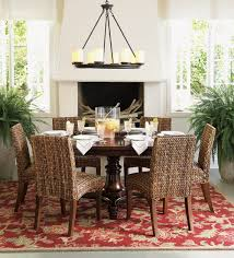 Round Dining Room Sets Pueblosinfronterasus - Pottery barn dining room set