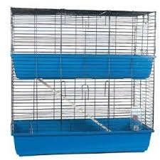 Rabbit And Guinea Pig Hutches Double 100cm Large Blue Indoor Rabbit Guinea Pig Hutch Cage Run