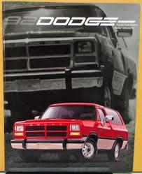 Dodge Ram Wagon - dodge trucks ramcharger ram wagon color sales brochure original